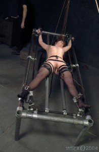 Orgasm spreadeagle forced tied and