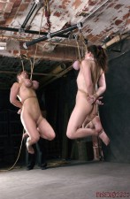 Suspended by breasts bondage not absolutely